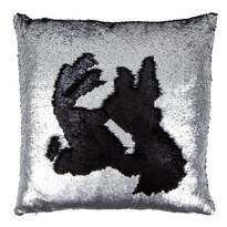 Dekorační polštářek Miracle stříbrná, 45 x 45 cm
