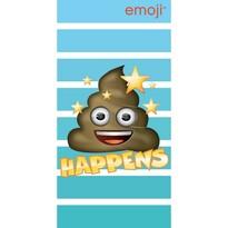 Emoji Happens törölköző, 70 x 140 cm