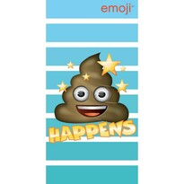 Ręcznik kąpielowy Emoji Happens, 70 x 140 cm