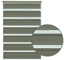 Roleta easyfix dvojitá mocca, 75 x 150 cm