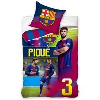 Bavlněné povlečení FC Barcelona Piqué, 140 x 200 cm, 70 x 80 cm