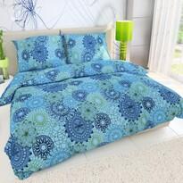 Bavlnené obliečky Kruhy modrá, 140 x 200 cm, 70 x 90 cm