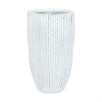 Polyresinová váza Stripe, modrá