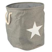 Textilný kôš na bielizeň Star, sivá