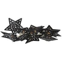 Stars dekoratív LED fényfüzér, fekete