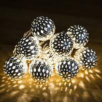 Crăciun lanț sferă LED, argint