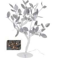 Świecące drzewko ze srebrnymi listkami, 32 LED