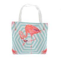 Taška Flamingo modrá, 43 x 45 cm