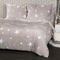 4Home mikroflanel ágyneműhuzat Stars Grey , 140 x 220 cm, 70 x 90 cm