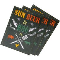 Ścierka kuchenna Sun, beer  BBQ, 50 x 70 cm, komplet 3 szt.