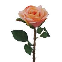 Umělá rozkvetlá Růže s trny oranžovo-růžová , 38 cm