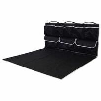 Csomagtartó védő zsebekkel, fekete