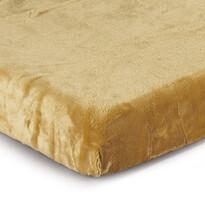 Cearşaf Micro-pluş culoarea mierii, 90 x 200 cm