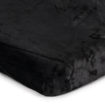 Prestieradlo Mikroplyš čierna, 90 x 200 cm