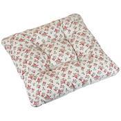 Sedák Adéla Růžička na režné, 40 x 40 cm
