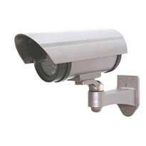 Solight Maketa bezpečnostní kamery na stěnu, stříbrná
