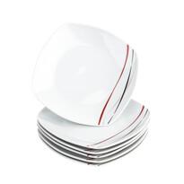 Domestic 6dílná sada dezertních talířů Amelie, 19 cm