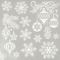 Vánoční okenní obtisky sněhové vločky