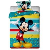 Dziecięca pościel bawełniana Mickey turkus, 140 x 200 cm, 70 x 90 cm