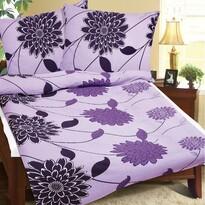 Lila virág krepp ágynemű