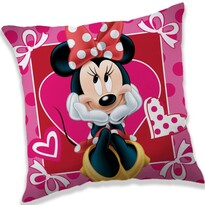 Polštářek Minnie hearts, 40 x 40 cm