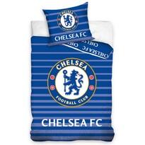 Bavlněné povlečení FC Chelsea Stripes, 160 x 200 cm, 70 x 80 cm