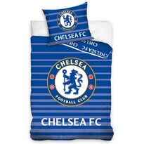 Pościel bawełniana FC Chelsea Stripes, 140 x 200 cm, 70 x 90 cm