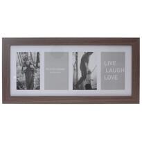 Fotorámček na 4 fotografie Seia tmavohnedá, 53 x 25 cm