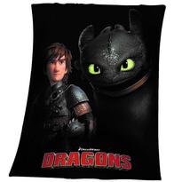 Detská deka Ako vycvičiť draka Bezzubka, 130 x 160 cm
