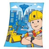 Detská deka Bob staviteľ, 130 x 160 cm
