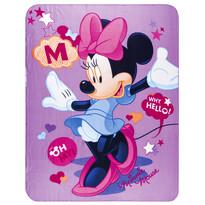 Dětská deka Minnie purple, 120 x 150 cm