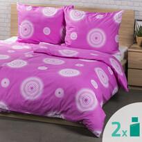 4Home 2 sady povlečení Tango růžová, 2x 140 x 200 cm, 2x 70 x 90 cm