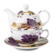3-częściowy zestaw do herbaty Lawenda