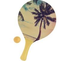 Set na plážový tenis Summer, žltá