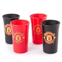 FC Manchester United Zestaw 4 Kieliszków do wódki, Colored