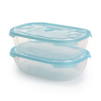 Tontarelli Sada plastových dóz na potraviny Nuvola 1,15 l, 2 ks