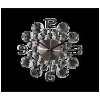 Nástěnné hodiny Lavvu Crystal Jewel antracitová, pr. 34 cm