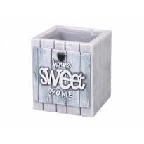 Dekoratívna sviečka Home Sweet Home, sivá