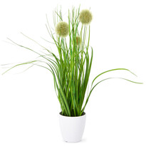 Umělá kvetoucí tráva Justine zelená, 36 cm
