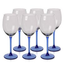 Set 6 pahare pentru vin Blue, 330 ml