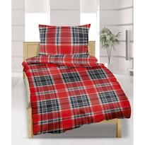 Krepové obliečky Káro červené, 140 x 200 cm, 70 x 90 cm