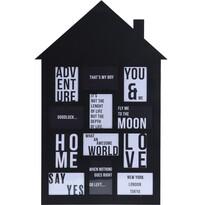 Fotorámček na 12 fotografií My house čierna, 52 x 82,5 cm