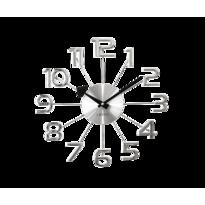 Nástěnné hodiny Lavvu Design Numerals stříbrná, pr. 37 cm