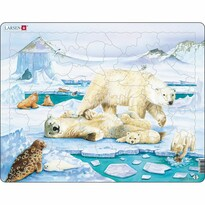 Larsen Puzzle Niedźwiedzia rodzinka, 54 części