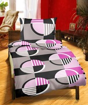 Krepové obliečky DE Luxe Kola fialová, 140 x 200 cm, 70 x 90 cm