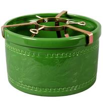Suport ceramic pentru pomul de Crăciun, verde