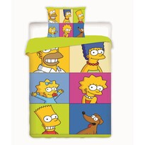 Detské bavlnené obliečky The Simpsons Square, 140 x 200 cm, 70 x 90 cm