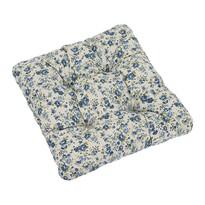 Sedák Ivo růžička modrá, 40 x 40 cm, sada 2 ks