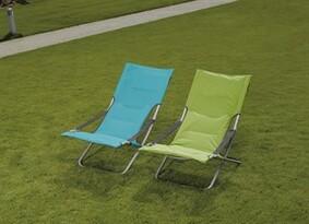 Plážová stolička nastaviteľná, zelená