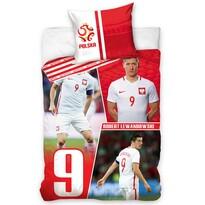 Bavlnené obliečky Polska Lewandowski Red, 160 x 200 cm, 70 x 80 cm